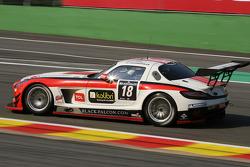 #18 Black Falcon Mercedes-Benz SLS AMG GT3: Bret Curtis, Jeroen Bleekemolen, Steve Jans, Cong Fu Cheng