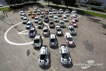 M-Sport prepared Rally cars which will be competing on the 2012 Rally Finland