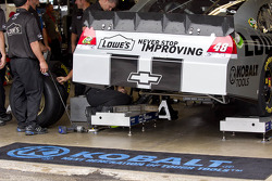 Hendrick Motorsports crew members at work