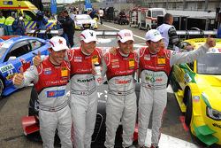 Filipe Albuquerque, Audi Sport Team Rosberg, Edoardo Mortara, Audi Sport Team Rosberg, Timo Scheider, ABT Sportsline, Mike Rockenfeller, Audi Sport Team Phoenix Racing