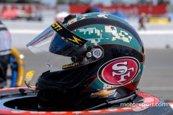 Helmet Deatail, J.R. Hildebrand, Panther Racing