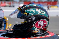 Helmet Deatail, J.R. Hildebrand, Panther Racing