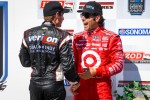 Victory lane: third place Dario Franchitti