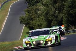 #44 Raeder Motorsport Audi R8 LMS ultra: Frank Biela, Christian Hohenadel, Thomas Mutsch