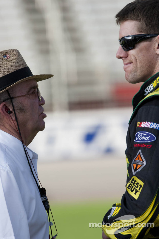 Carl Edwards, Roush Fenway Racing Ford and Jack Roush