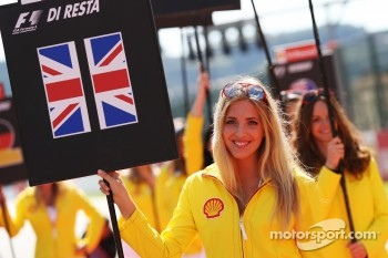 Grid girl on the drivers parade