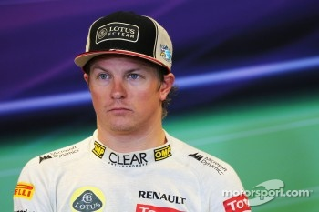 Third placed Kimi Raikkonen, Lotus F1 Team in the FIA Press Conference