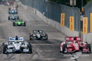 Scott Dixon, Target Chip Ganassi Racing Honda, Sébastien Bourdais, Dragon Racing Chevrolet