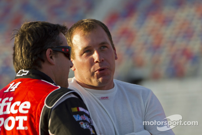 Tony Stewart and Ryan Newman