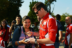 Rob Smedley, Ferrari Race Engineer signs autographs for the fans