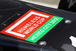 Homeless World Cup promotion on the Sauber C31