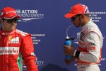 Pole for Lewis Hamilton, McLaren Mercedes, 3rd Felipe Massa, Scuderia Ferrari