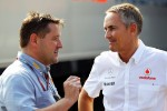 Paul Hembery, Pirelli Motorsport Director with Martin Whitmarsh, McLaren Chief Executive Officer