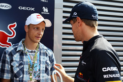 Mikko Hirvonen, Rally Driver with Sebastian Vettel, Red Bull Racing