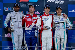 Podium From left: Duvashen Padayachee  Jack Harvey, Felix Serralles and Jazeman Jaafar