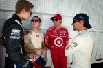 Josef Newgarden, Sarah Fisher Hartman Racing Honda, Wade Cunningham, A.J. Foyt Racing Honda, Scott Dixon, Target Chip Ganassi Racing Honda and Alex Tagliani, Team Barracuda - BHA Honda