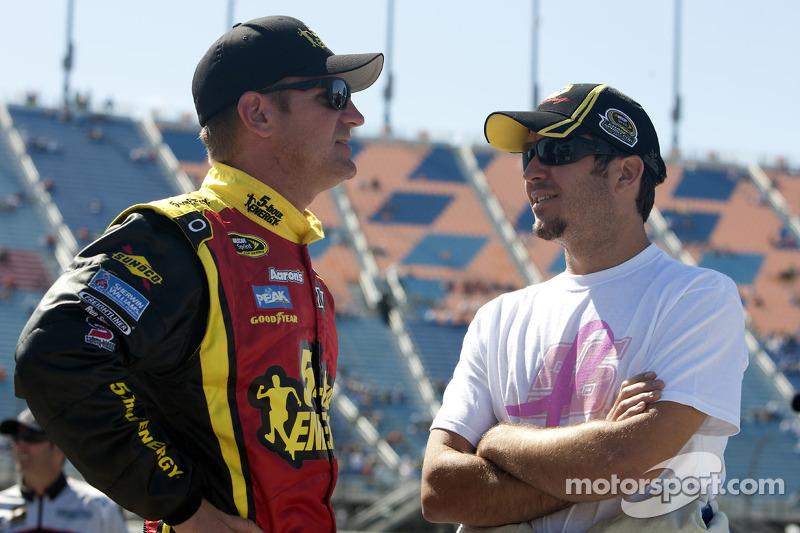 Clint Bowyer and Martin Truex Jr.