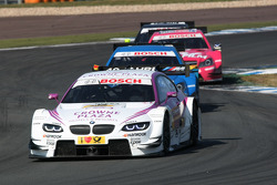 Andy Priaulx, BMW Team RBM BMW M3 DTM leads Roberto Merhi, Persson Motorsport AMG Mercedes C-Coupe