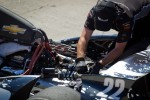 Car of Oriol Servia, Dreyer & Reinbold Racing Chevrolet, engine