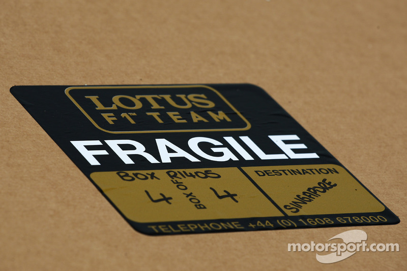 Lotus F1 Team freight sticker