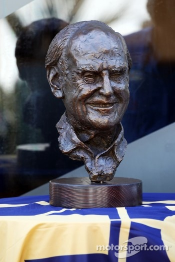 A bronze statue of the late Sid Watkins, Former FIA Safety Delegate
