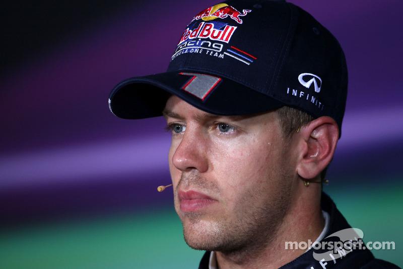 FIA press conference: third place Sebastian Vettel, Red Bull Racing