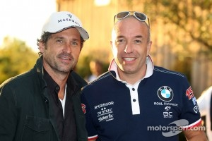 Sportscar racer Patrick Dempsey and World Touring car's Tom Coronel in Sonoma