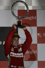 Podium: third place Fernando Alonso, Scuderia Ferrari