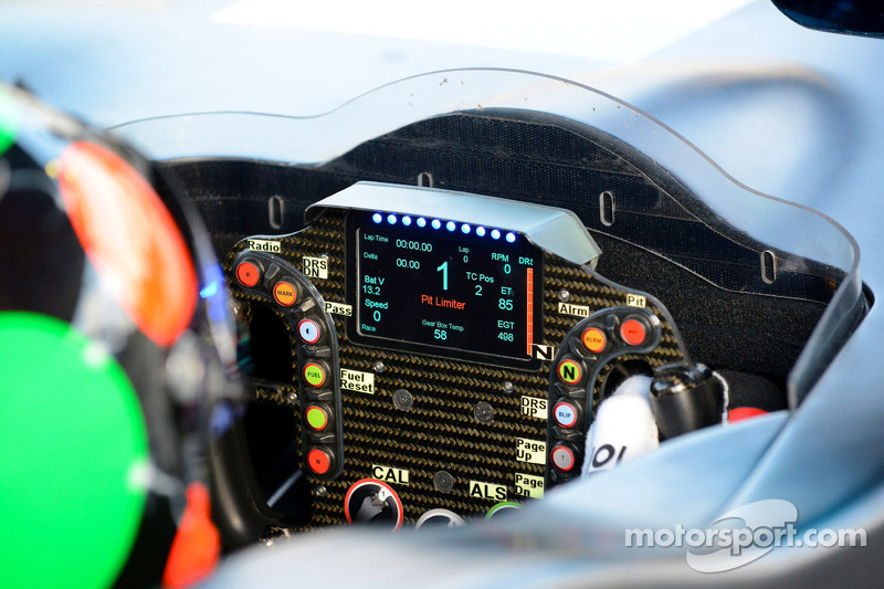 DeltaWing steering wheel detail
