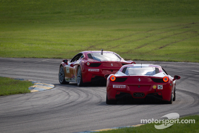 #13 Ferrari of Ontario 458CS: Marc Muzzo, #5 Ferrari of Atlanta 458CS: Jim Booth