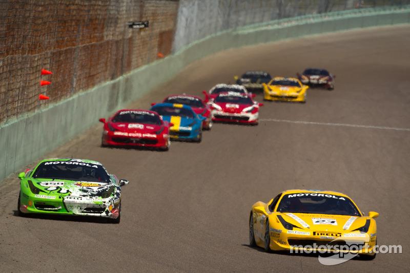 #23 Ferrari of Central Florida 458TP: Onofrio Triarsi, #458 Ferrari of Beverly Hills 458TP: Kevin Marshall