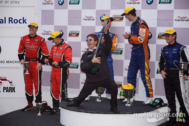 DP Podium: race winners Max Angelilli, Ricky Taylor, second place Alex Gurney, Jon Fogarty, third place Richard Westbrook, Antonio Garcia