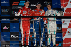 Podium from left: Alex Lynn, Jack Harvey and Jazeman Jaafar