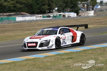 #32 Team Audi France  Audi R8 LMS Ultra: David Hallyday; Stphane Ortelli
