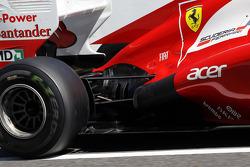 Ferrari engine cover and rear suspension detail