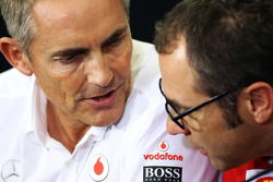 Martin Whitmarsh, McLaren Chief Executive Officer and Stefano Domenicali, Ferrari General Director in the FIA Press Conference