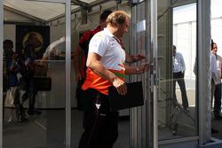 Bob Fernley, Sahara Force India F1 Team Deputy Team Principal leaves a teams' meeting