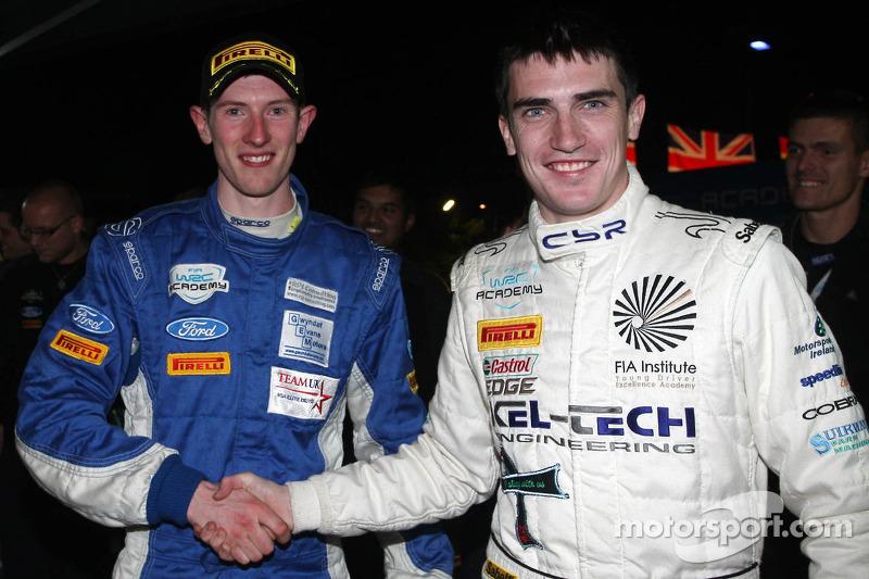 WRC Academy champions Elfyn Evans and Andrew Edwards, Ford Fiesta R2