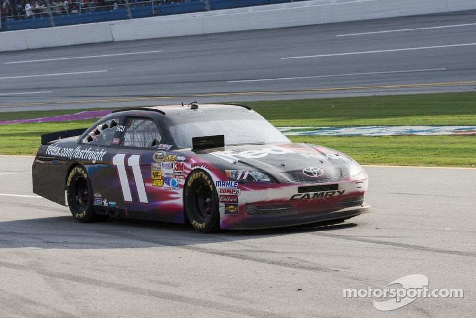 Denny Hamlin, Joe Gibbs Racing Toyota limps back to the pits