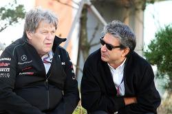 Norbert Haug, Mercedes Sporting Director with Pasquale Lattuneddu, of the FOM