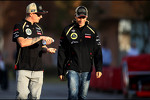 Kimi Raikkonen, Lotus F1 Team and Jérôme d'Ambrosio, third driver,  Lotus F1 Team
