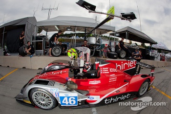 Pit stop practice for #46 Thiriet by TDS Racing Oreca Nissan: Mathias Beche, Pierre Thiriet, Christophe Tinseau