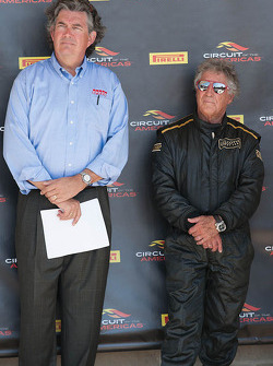 Bob Varsha and Mario Andretti