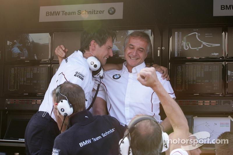 Valentino Conti, Engineer of Bruno Spengler, BMW Team Schnitzer BMW M3 DTM and Charly Lamm, Teammanager BMW Team Schnitzer