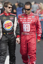 Landon Cassill and Juan Pablo Montoya