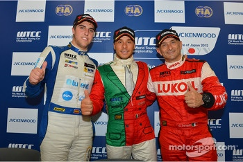 Press conference, Pepe Oriola, BMW 320 TC, Wiechers-Sport and Gabriele Tarquini, SEAT Leon WTCC, Lukoil Racing Team