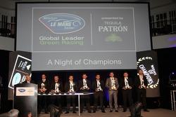 ALMS champions, Lucas Luhr, Klaus Graf, Christophe Bouchut, Scott Tucker, Alex Popow, Oliver Gavin, Tom Milner and Cooper MacNeil