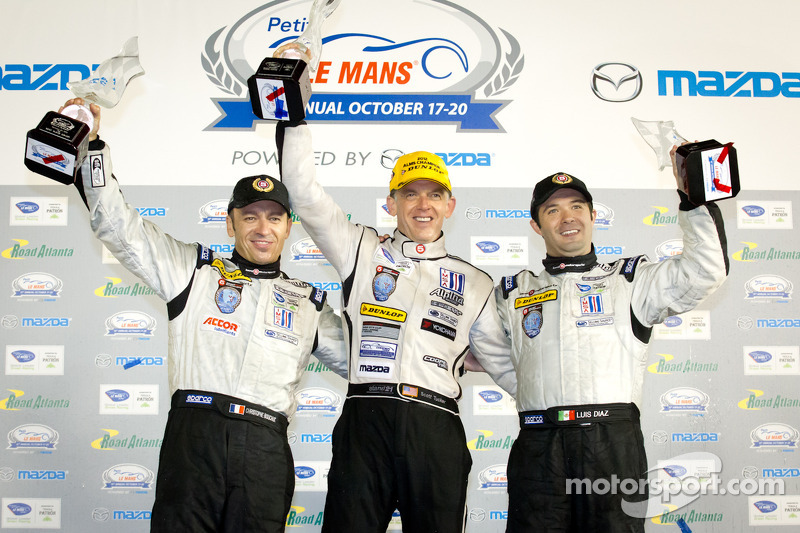 P2 podium: class winners Scott Tucker, Christophe Bouchut, Luis Diaz