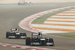 Bruno Senna, Williams leads team mate Pastor Maldonado, Williams