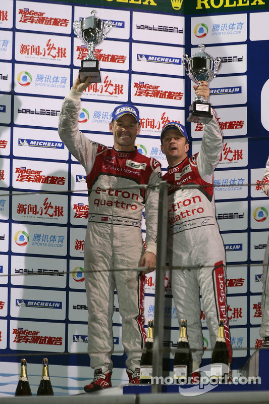 Podium: second place Tom Kristensen, Allan McNish